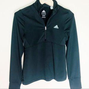 Adidas half zip track jacket black size small